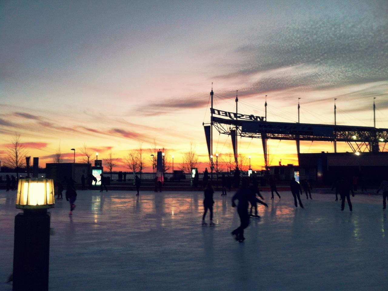 Harbour front centre에서 스케이트타기, 마카롱..
