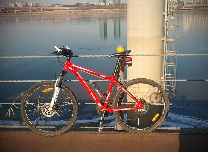 혹한기 자전거 라이딩 - 한강