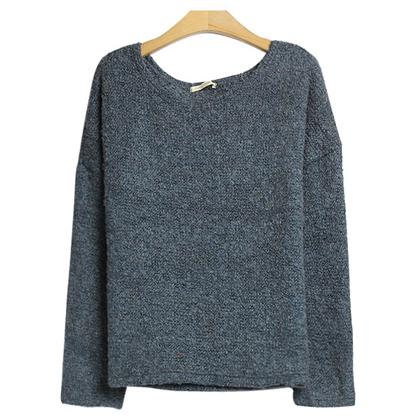 컬러풀 니트 스타일 코디 Solid Knit Sweater Style..