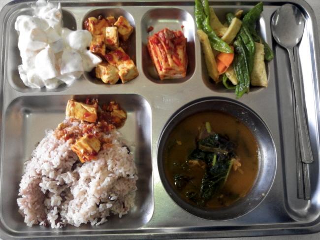 연수원 점심 급식