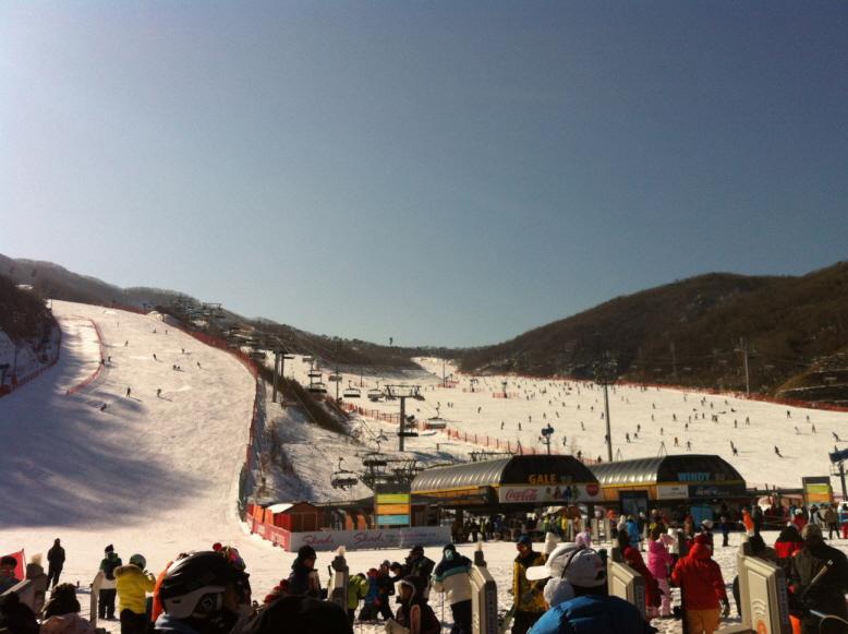 주말에 곤지암 리조트 스키장 다녀왔습니다.