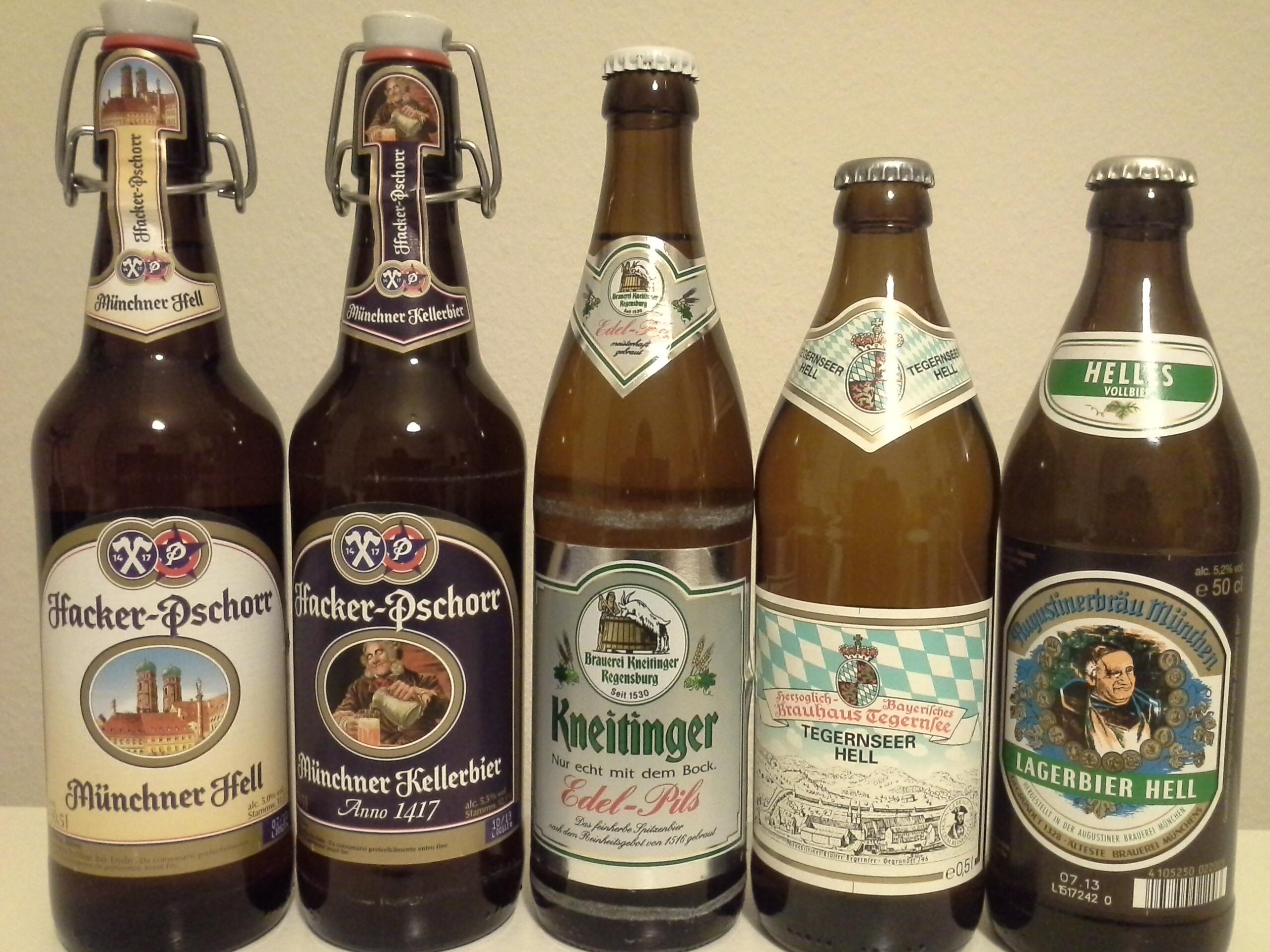 바이에른의 맥주들