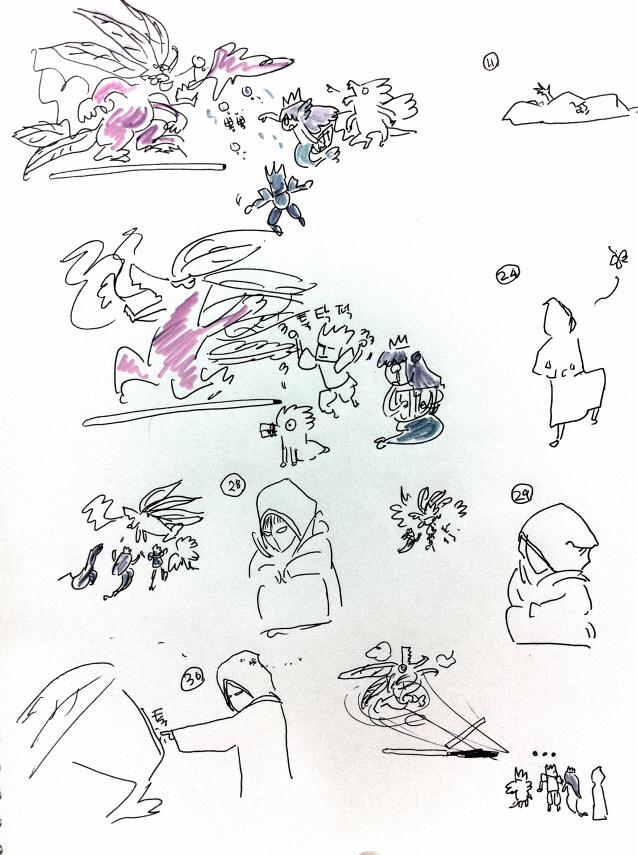 삼색 불의 역룡에서 하데스 노는 만화