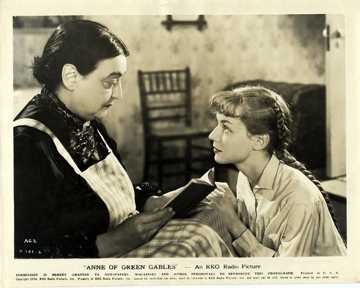 1934년 빨강머리 앤 흑백영화 홍보카드