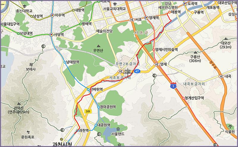 13_0322 매봉 역에서 양재천 자전차 길 따라 과천 공..
