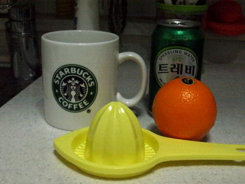 오렌지에이드 만들기.