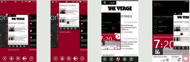 윈도우폰 8.1의 컨셉 디자인