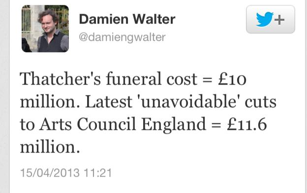 마가렛 대처 장례식 비용의 문제.