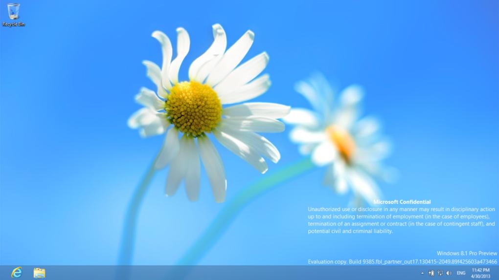 윈도우 8.1에서 알림기능 추가! (Build 9385)