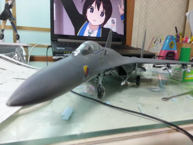 아카데미 1/48 Su-27 완성!
