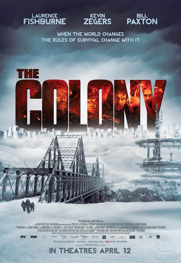 """스산한 이야기, """"The Colony"""" 포스터들입니다."""