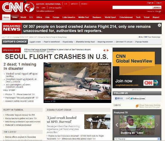 보잉777, 아시아나 항공기 추락