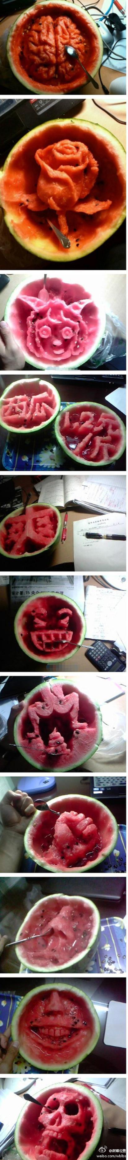 중국 청화대학생의 수박예술...