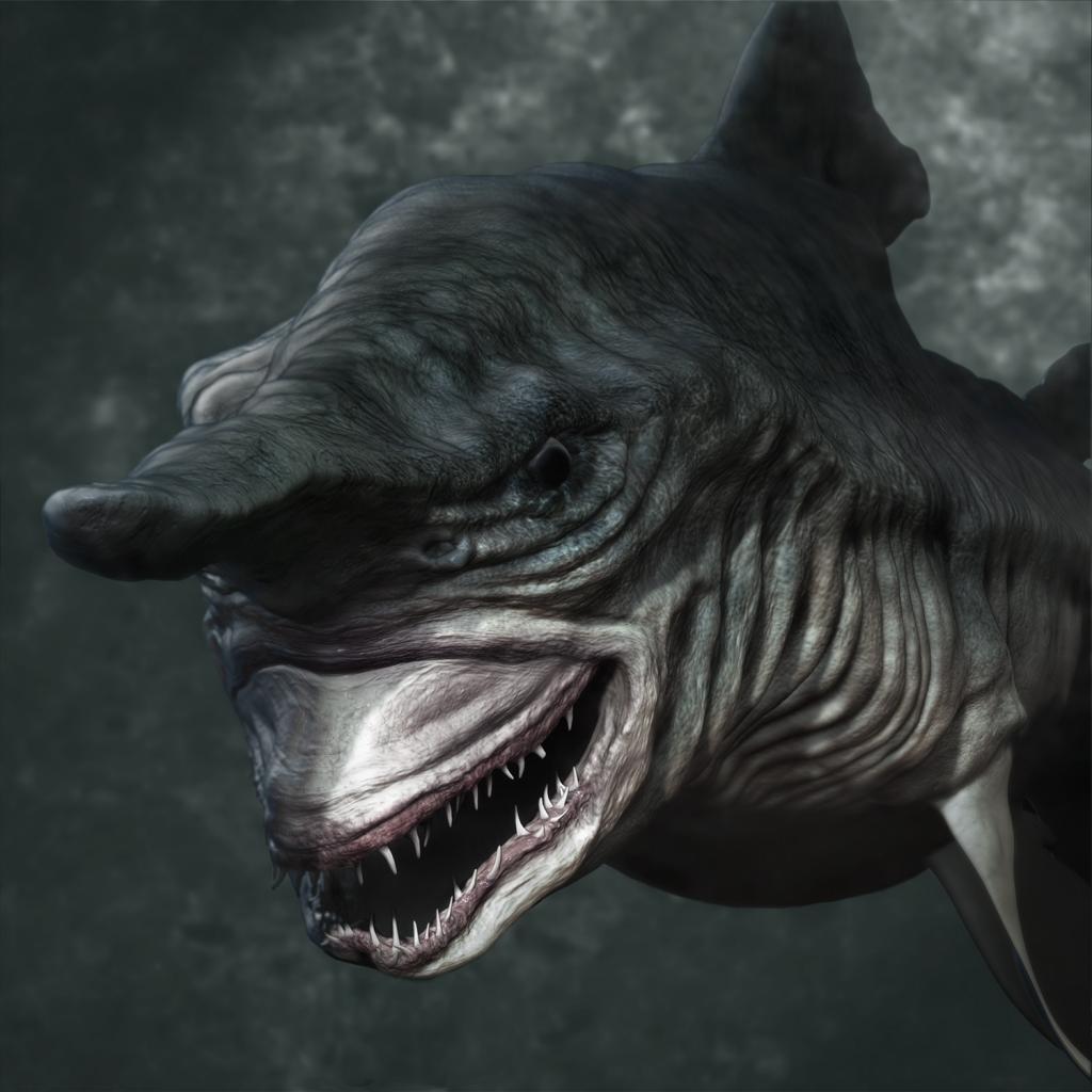 실존하는 심해괴물-고블린상어