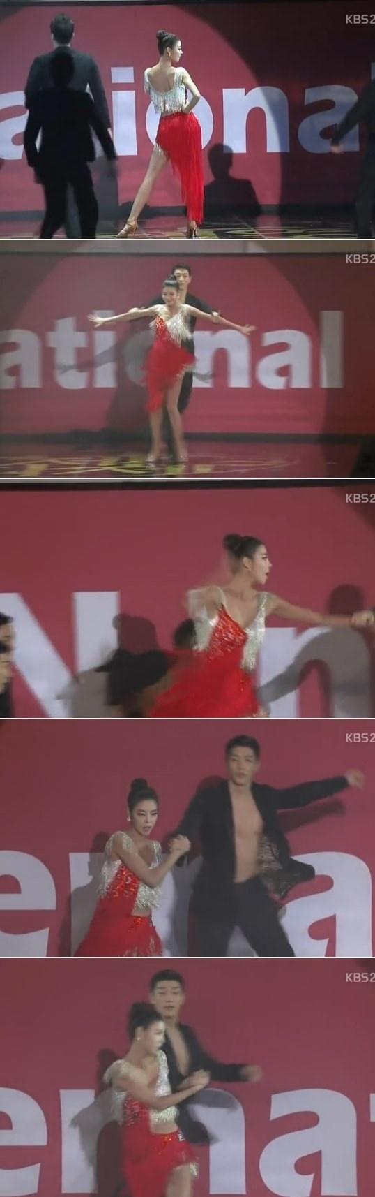 김규리 축하공연, 빨간드레스 화제