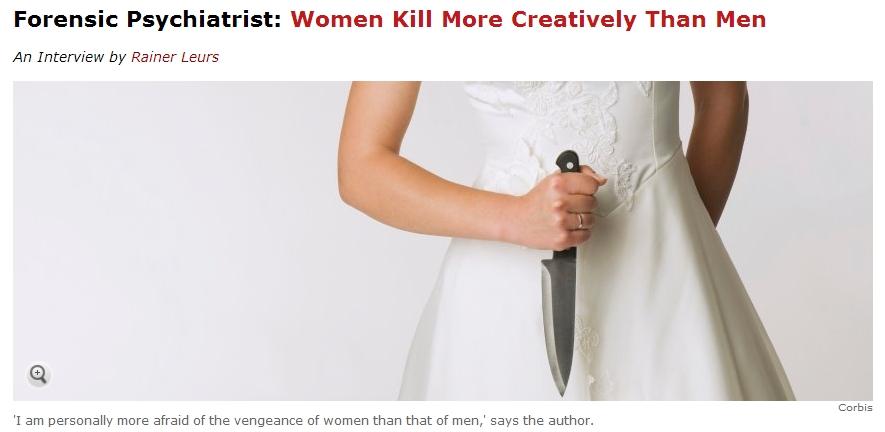 """""""여성이 남성보다 더 창조적으로 살인하는 이유는?"""""""