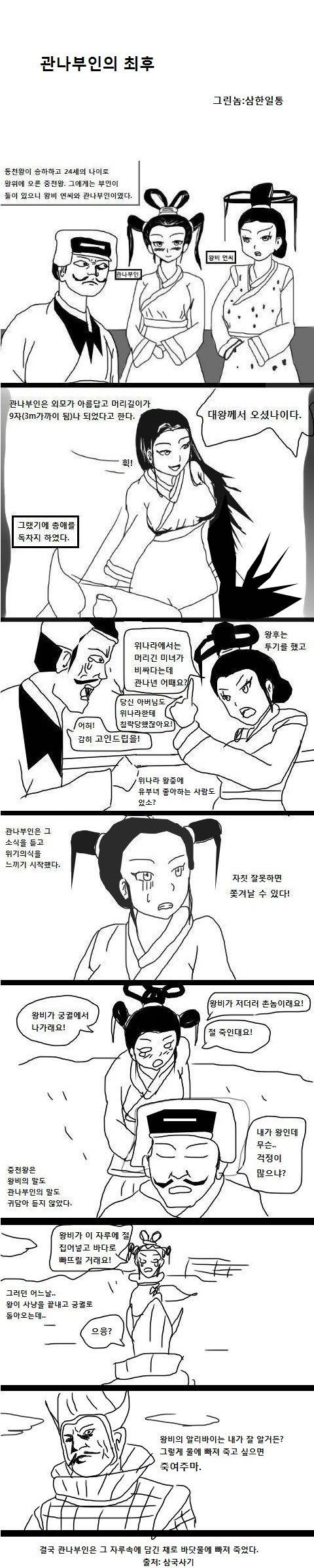 삼한일통의 삼국사기만화]관나부인의 최후