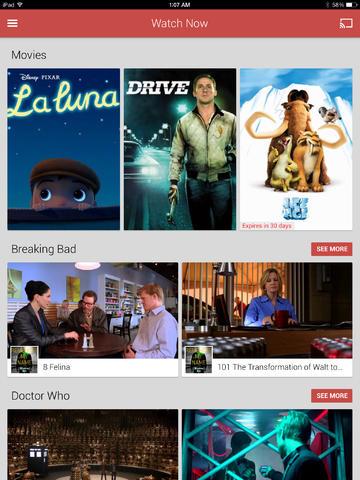 구글 플레이의 영화, TV 어플이 나와있더군요.