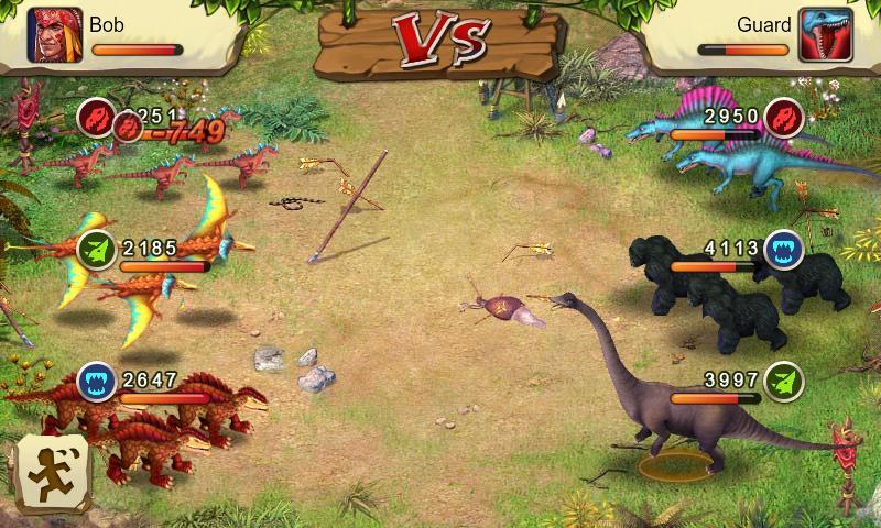 새삼스럽게 Dinosaur War는 참 잘 만든 앱게임이..