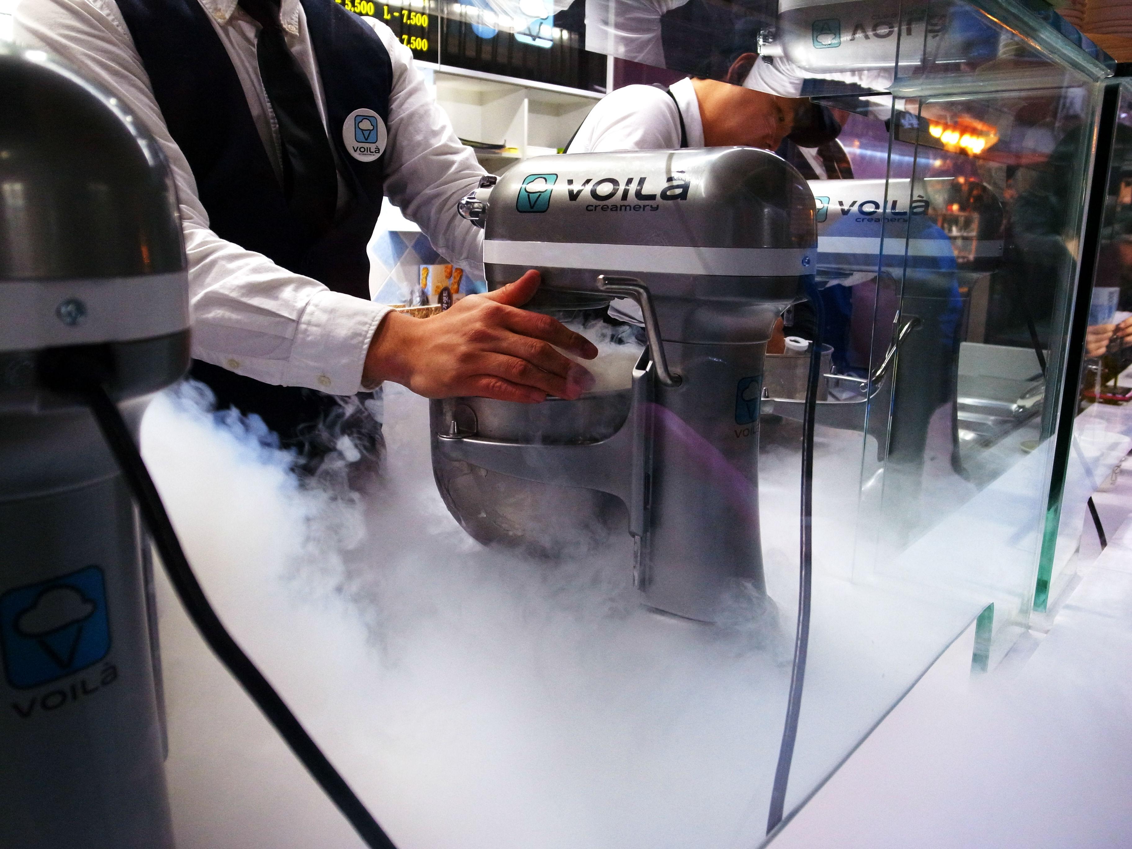 남포동 액체질소 아이스크림 VOILA
