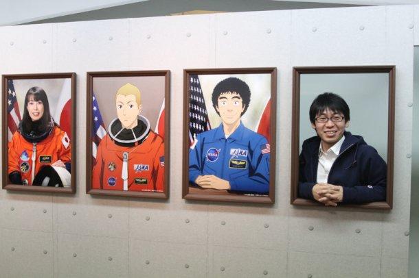 인기 만화 '우주형제' 대규모 작품 전시회 사진