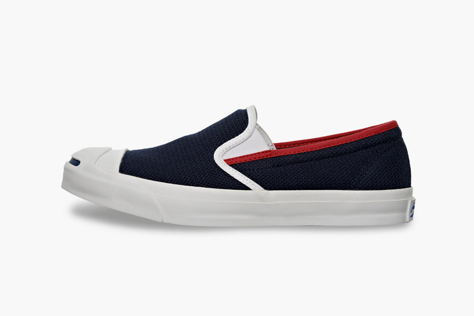 - Converse Jack Purcell Cotton-Mesh Slip On