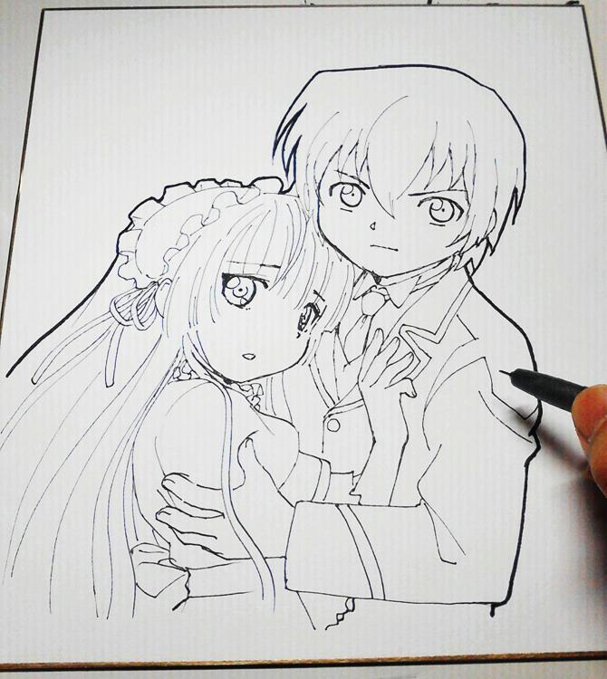 GOSICK의 애니메이션 감독이 그린 그림이 예쁘네요.
