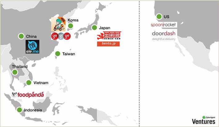 가열되는 음식 배달 시장, 일본/미국/동남아시아의..