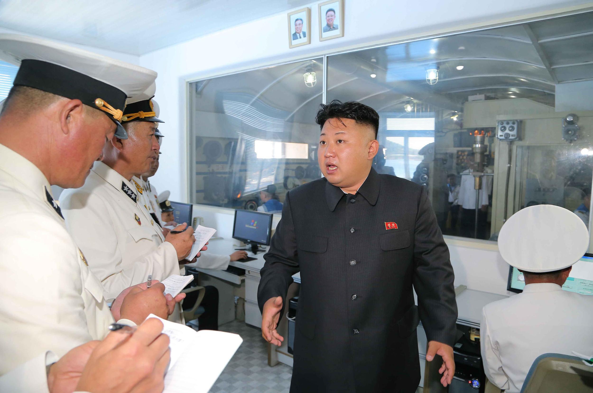 북한 잠수함 시뮬레이션 공개