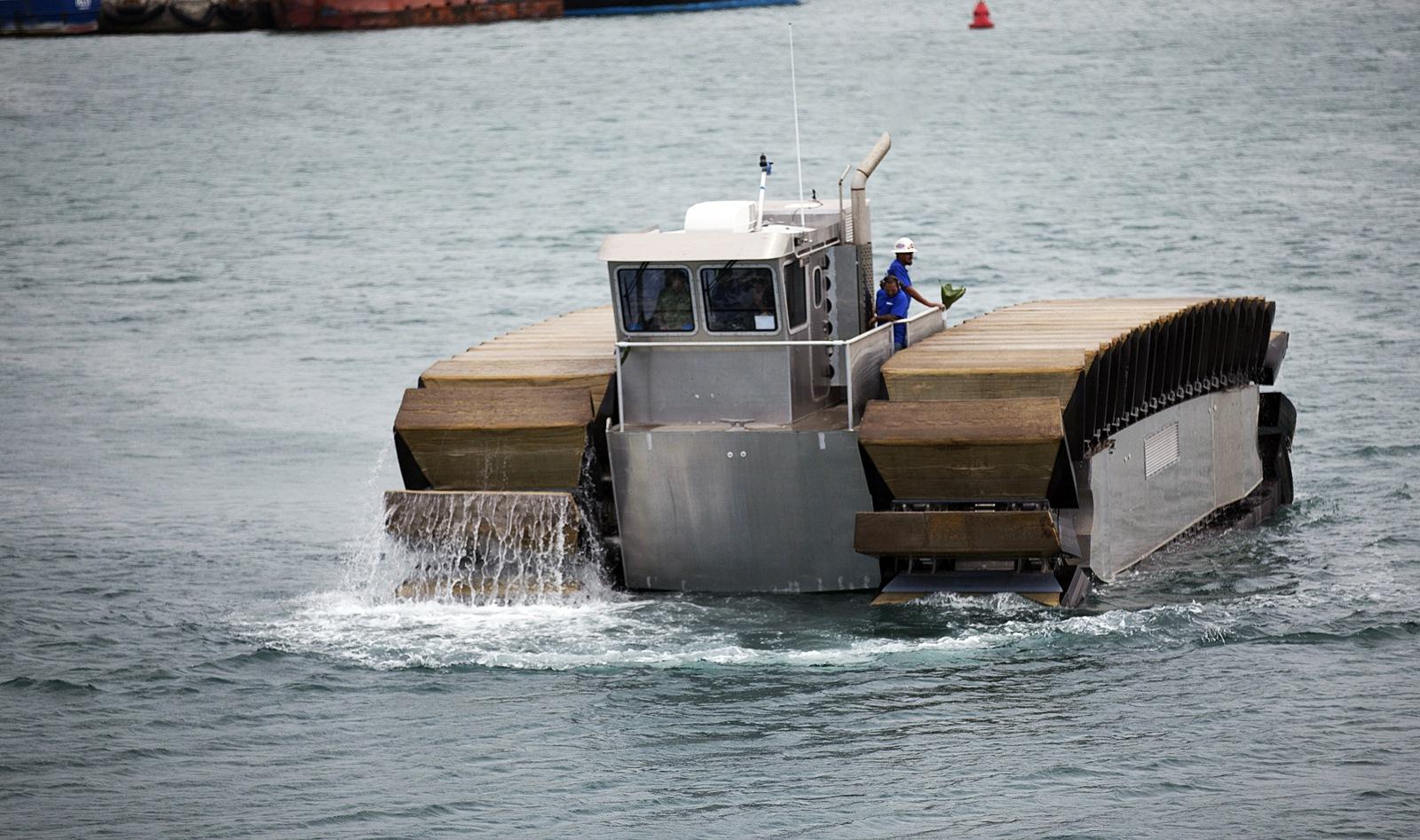 미 해병대용 초중량 수송용 상륙정 실증형 테스트 시작