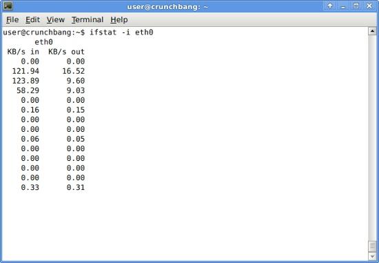 ifstat - 리눅스에서 간단한 네트워크 상황 표시