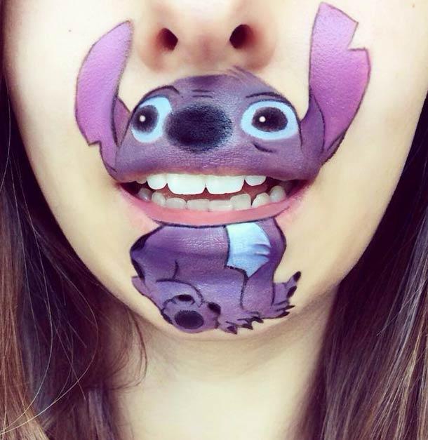 카툰 마우스 메이크업 cartoon mouth makeup
