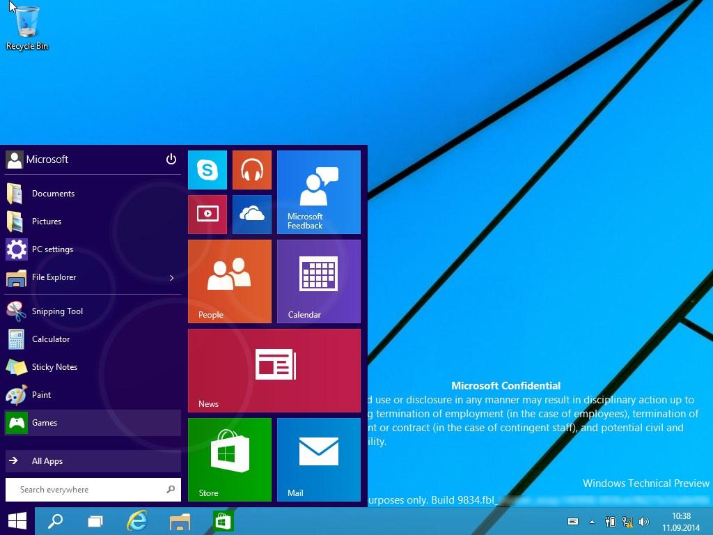 윈도우 9은 8.x 사용자들에게 무료 업그레이드 지원..