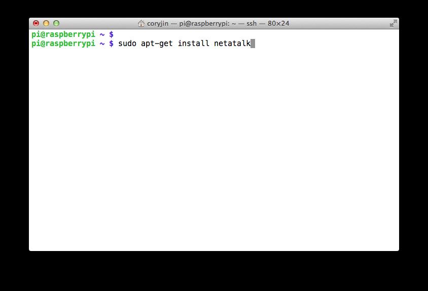 3.1. 라즈베리 파이 Netatalk 설치하기 / Installin..