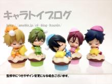 Free! 캐릭터들이 컵 케이크 위에서 자고 있는 모습..