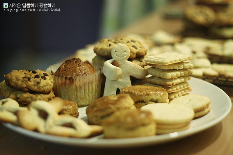 [홈베이킹] 스콘, 아몬드품은쿠키, 초코칩쿠키..