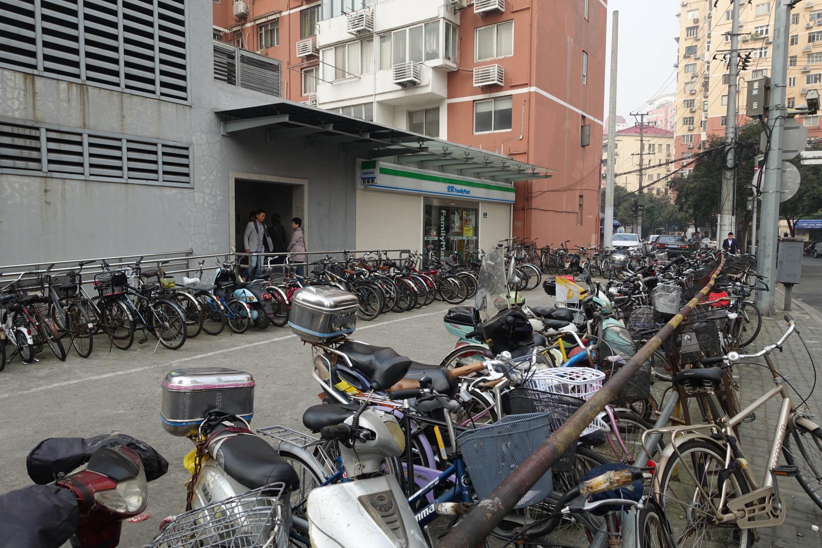 중국의 전기이륜차 충전소