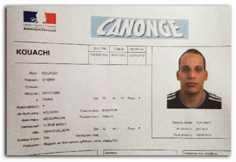 [샤를리 엡도]셰리프 쿠아시, 한 테러용의자의..