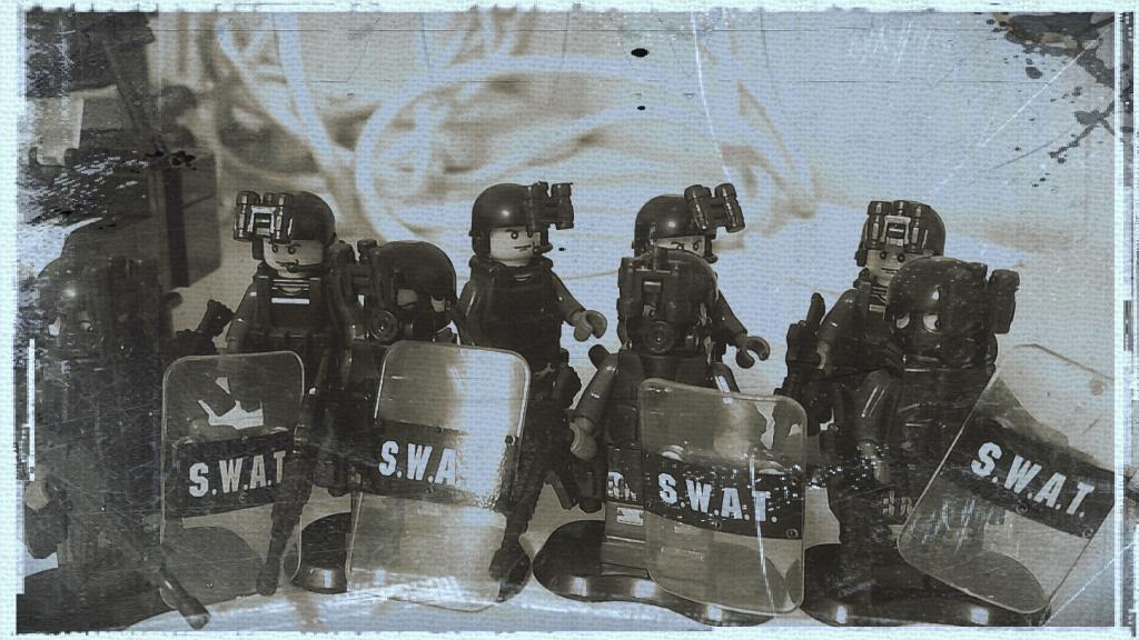 중국산 피겨 'SWAT 시리즈-블루팀'