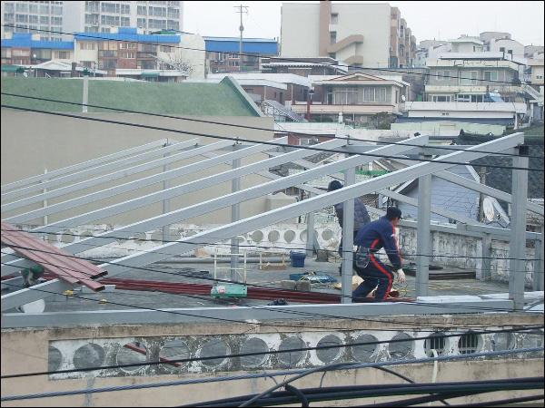 (20150116~18) 양철지붕 씌우기 400~500만원