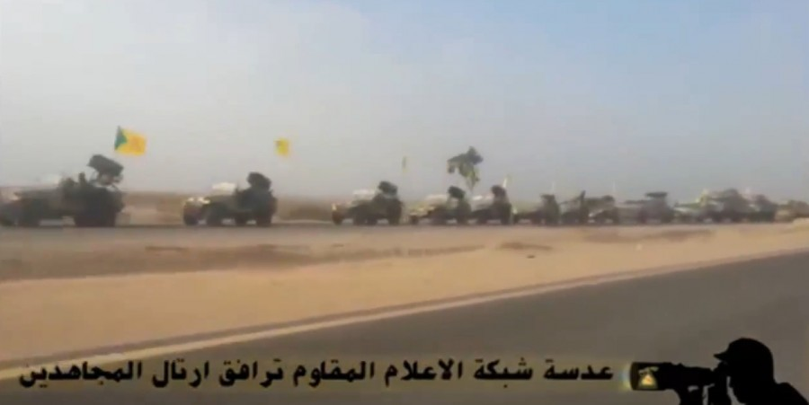 이라크에서 친 이란계 시아파 부대 행렬..