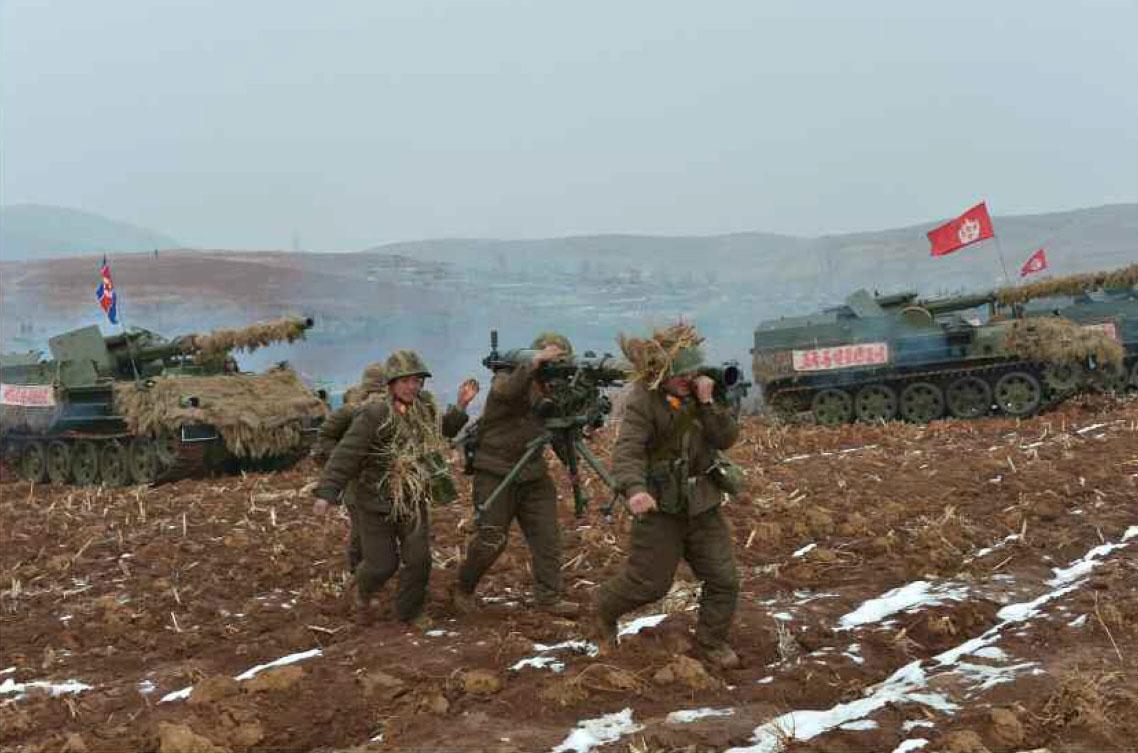 북한군 동계 도하공격훈련 모습