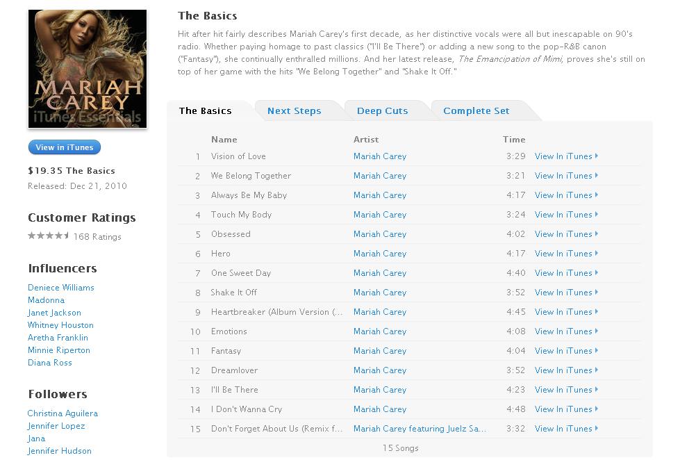 [MC25] Mariah Carey - iTunes Essentials (..