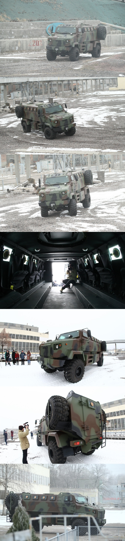 우크라이나 방위군 신형 KRAZ SHREK 대지뢰 장갑..