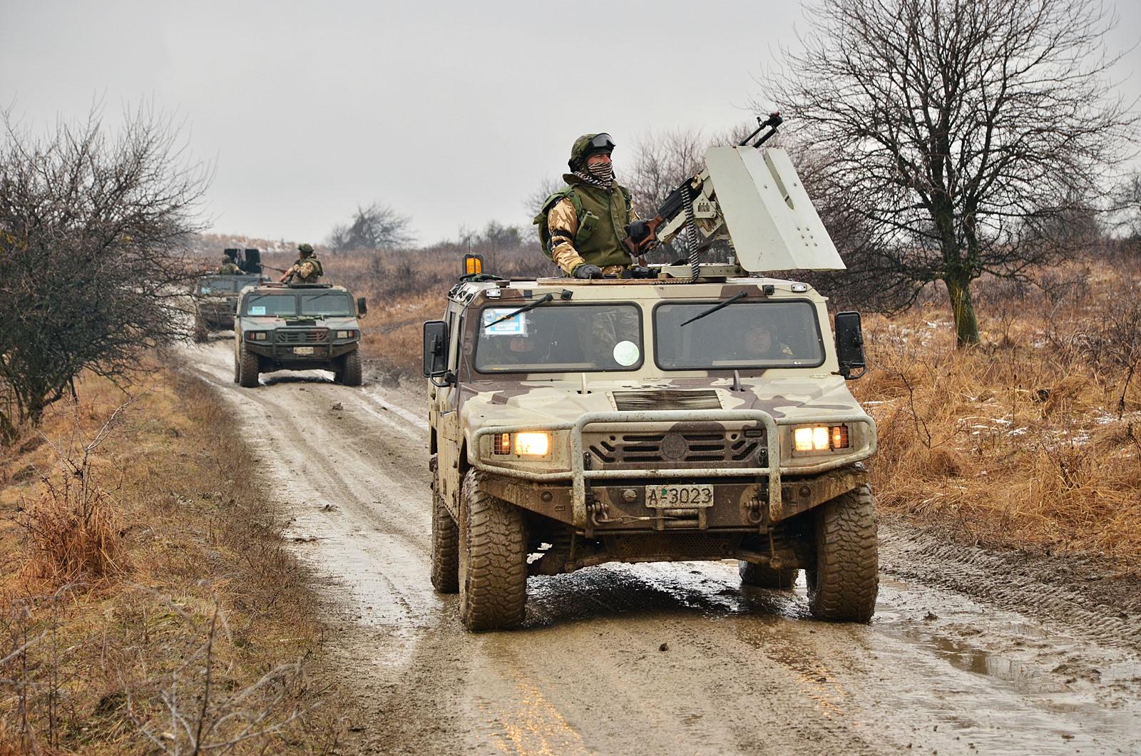 루마니아 특수부대의 URO VAMTAC 고기동 다목적차