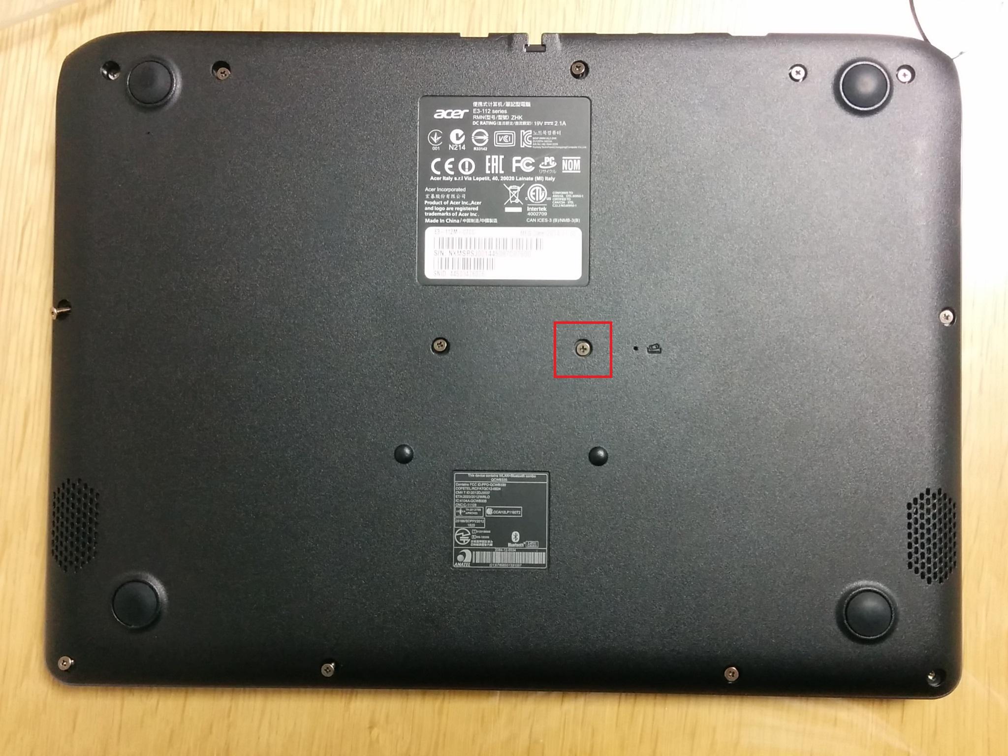 Acer E3-112M SSD 장착