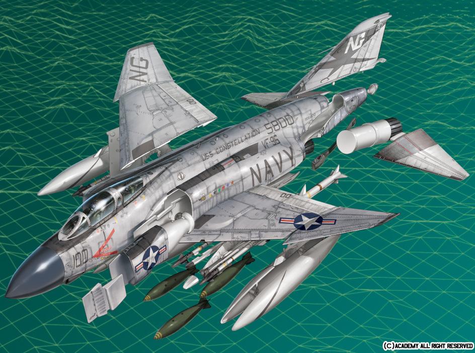 """아카데미 1/72 F-4J팬텀 """"쇼타임100"""""""