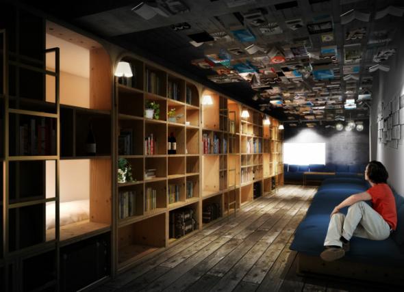 독서광을 위한 꿈의 호텔, 북 앤 베드 도쿄