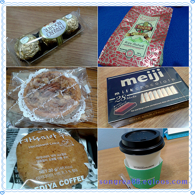 2015년 상반기(~7월)에 받은 선물, 음식