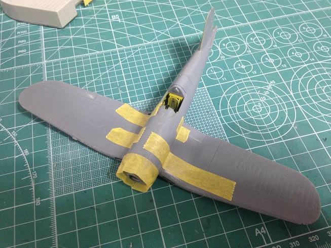 타미야 1/72 F4U-1D 코르세어 -2- 동체수정~엔진